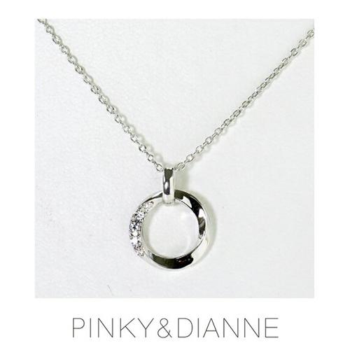 PINKY & DIANNE Brilliant Circle ピンキー&ダイアン ブリリアントサークル ネックレス シルバー キュービック SV(ロジウムメッキ)VPCPD51571