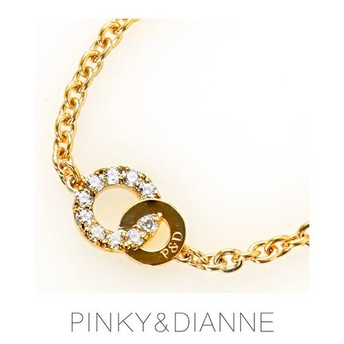PINKY & DIANNE Brilliant Circle ピンキー&ダイアン ブリリアントサークル ブレスレット シルバー キュービック SV(PGメッキ)【送料無料】53185