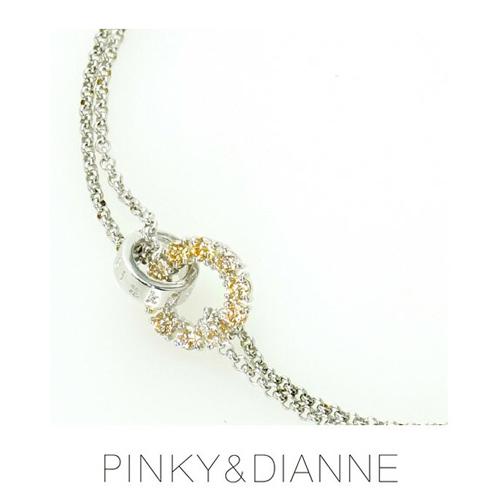 PINKY & DIANNE Silver ピンキー&ダイアン シルバー ブレスレット キュービック SV(ロジウムメッキ)53193【送料無料】