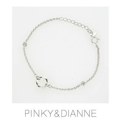 PINKY & DIANNE Brilliant Circle ピンキー&ダイアン ブリリアントサークル ブレスレット シルバー キュービック SV(ロジウムメッキ)53207【送料無料】