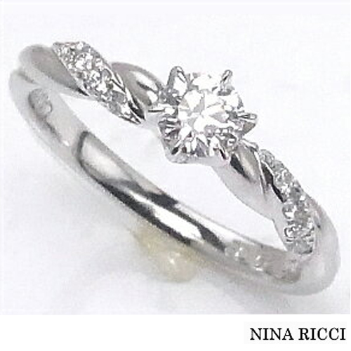 【限定1本】NINA RICCI ニナリッチ Pt ダイヤモンドリング [婚約指輪0.29ct]プラチナ エンゲージリング F-VS1-EX サイズ11号 ±3号までサイズ直し可能【送料無料】【刻印無料】【FR-461】10P04Jun19¥463,000