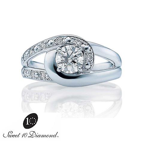 【正規品】 スイート10ダイヤモンド Sweet 10 Diamond Pt900 ダイヤモンドリング 0.10ct メレダイヤモンド0.08ct 10044【正規保証書付き】【スウィート10】【結婚10周年】【プレゼント】【贈り物】【ナガホリ正規モデル】納期1ヶ月 (オーダー品)PRSD10044