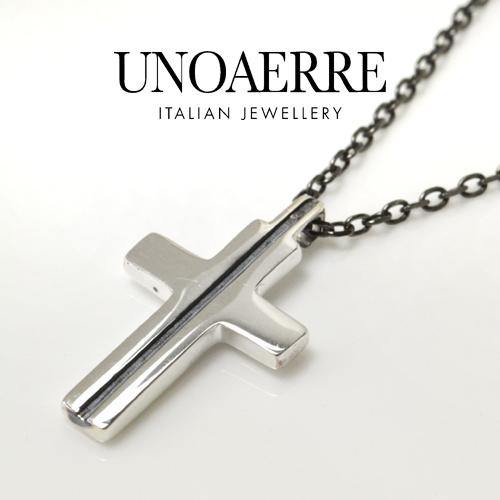 UNOAERRE ウノアエレ シルバー クロスネックレス 023244 新作モデル 50cm  [送料無料]