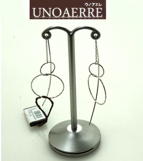 (あす楽) UNOAERRE ウノアエレ K18 ホワイトゴールド アメリカンピアス 023932 8000FY1341000 [送料無料]【ジュエリー・アクセサリー】