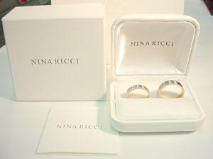 含NINA RICCI Nina Ricci婚姻環[結婚戒指]鑽石的6R1J05左側05P03Sep16¥98,280