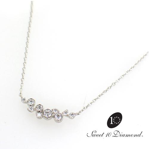【正規品】 スイート10ダイヤモンド Sweet 10 Diamond Pt850/Pt900 ダイヤモンド  0.20ct 45cm【正規保証書付き】【スウィート10】【結婚10周年】【プレゼント】【贈り物】【記念ジュエリー】【送料無料】【ナガホリ正規モデル】VND1M025Q450
