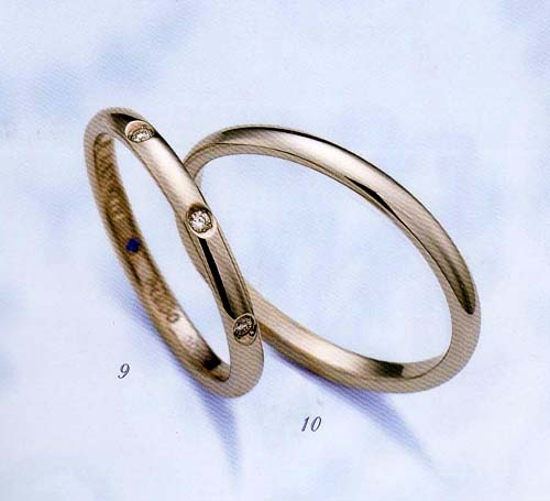 LANVIN  ランバン ペア リング(2本分)  La vie en bleu 結婚指輪 マリッジ リング 5924062 5924063 納期は約1週間【楽ギフ_名入れ】【最安値挑戦】【送料無料】05P04Jun19