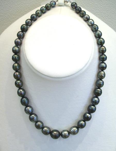 タヒチ黒真珠 ネックレス【楽ギフ_のし】【楽ギフ_メッセ入力】【smtb-kd】