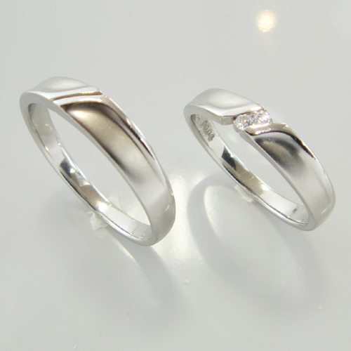 ランバン ペアリング (2本分)  La vie en bleu 結婚指輪 マリッジ リング  5924036 5924035  【楽ギフ_名入れ】【最安値挑戦】【送料無料】05P04Jun19