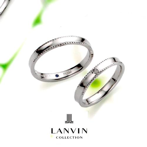 LANVIN (ランバン) La vie en bleu 結婚指輪 ダイヤモンド マリッジ リング  (右側) Pt950 コンビ (5924082)【送料無料】【楽ギフ_名入れ】【楽ギフ_メッセ入力】05P04Jun19