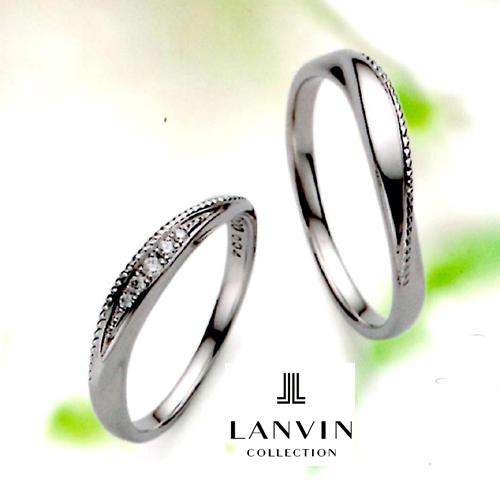 LANVIN (ランバン) La vie en bleu 結婚指輪 マリッジ リング  (右側) Pt950 コンビ (5924081)【送料無料】【楽ギフ_名入れ】【楽ギフ_メッセ入力】05P04Jun19