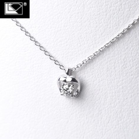 ラザールダイヤモンド スイングダイヤモンドネックレス 0.12ct K18WG (限定品) LD694KN1【送料無料】10P03Sep16