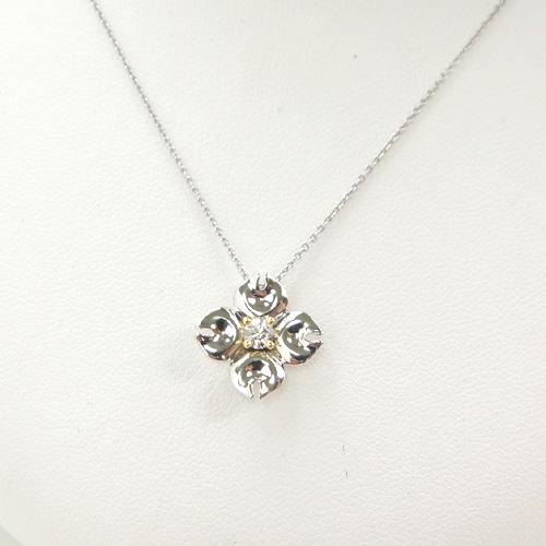 ラザール保証書付 THE LAZARE DIAMOND 【ラザールダイヤモンド】 ハナミズキ ダイヤモンドペンダント(0.13ct) LD479KYN 【送料無料】10P04Jun19