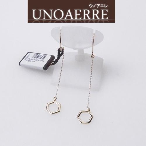 UNOAERRE ウノアエレ K18 イエローゴールド ピアス 新作モデル 015UJP034000 [送料無料]10P04Jun19