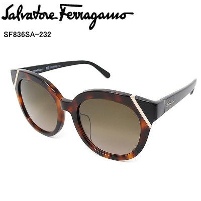国内正規品 Salvatore Ferragamo サルヴァトーレ フェラガモ SF836SA-232 サングラス レディース【送料無料】