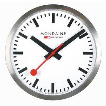 MONDAINE モンディーン ウォール クロック スイス国鉄オフィシャル鉄道 3色からお選び下さい 【楽ギフ_のし】【楽ギフ_メッセ入力】【楽ギフ_名入れ】【smtb-kd】fs04gm
