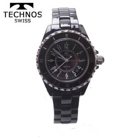 (あす楽) テクノス 腕時計 (TECHNOS) 女性用 T9830TB ブラックセラミックベルト付 2014秋新作モデル 【クリスマス】【送料無料】02P04Jun19