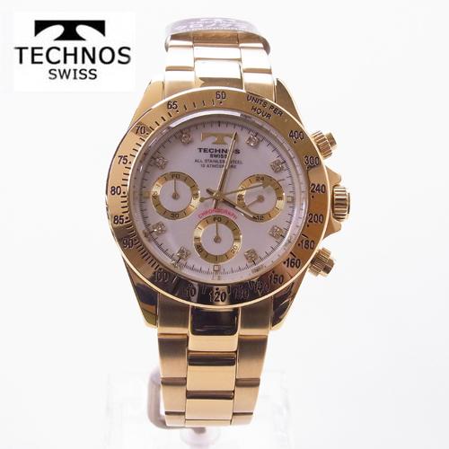 テクノス(TECHNOS)腕時計  クロノグラフ 10気圧防水 TGM639GW 【最安値挑戦】【ギフト】