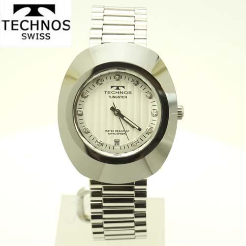 (あす楽)テクノス(TECHNOS) 腕時計 5気圧防水 T9475CS ホワイト文字板 【最安値挑戦】【送料無料】【ホワイトデイ】02P04dec18