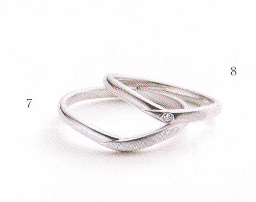 マリ・エ・マリ 結婚リング [マリッジ] Marie et Marie No7(左ダイヤ無し)QCPMM-2 【楽ギフ_包装_のし メッセ入力 名入れ】【送料無料】05P18Jun16