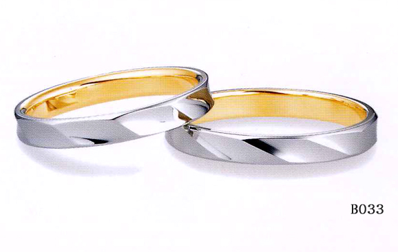 et toi (エトワ) マリッジK18ゴールド/Pt900(プラチナ) 【マリッジ リング 結婚指輪 1号~21号】 B033  (送料無料) 【楽ギフ_のし】【楽ギフ_メッセ入力】【最安値挑戦】【05P04Jun19】【送料無料】\49680