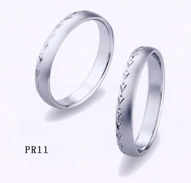 2本分 et toi (エトワ) マリッジ Pt900(プラチナ) 【マリッジ ペアリング 結婚指輪 1号~21号】 PR11 オーダー品(ご納期約4週間) 【最安値挑戦】【05P18Jun16】【送料無料】\129,600