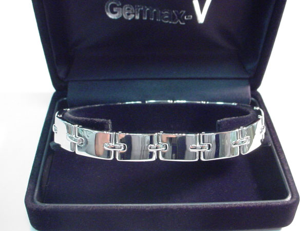 ゲルマニウムブレスレットチタン ビックゲルマV 品番:Germax-V002艶ありタイプ