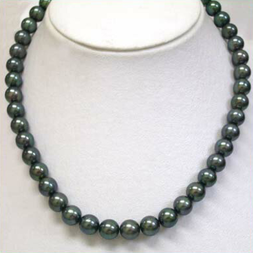 タヒチ黒真珠ネックレス(直販特価)タヒチ産黒真珠は大きすぎるとおっしゃる方に!!【楽ギフ_のし】【楽ギフ_メッセ入力】【smtb-kd】