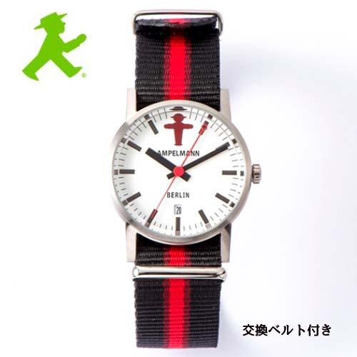 アンペルマン 腕時計 クォーツ ラウンド ホワイト ARI-4976-03