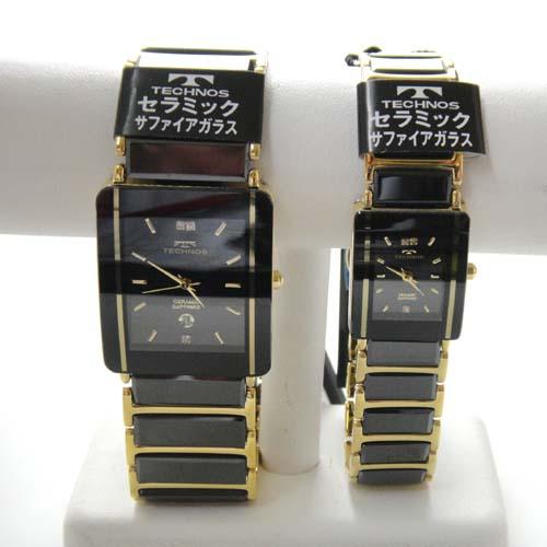 ペアウオッチ 腕時計 (TECHNOS) 3気圧防水 サファイアガラス T9137GB-T9796GB【送料無料】【スーパーセール】【ホワイトデイ】