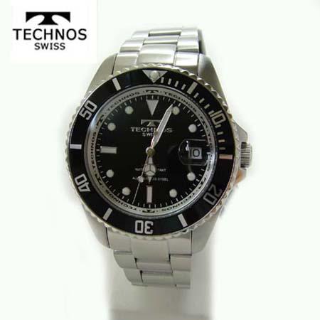 薄型腕時計 TAM530GB TAM530GB テクノス あす楽・敬老の日 TECHNOS メンズウォッチ ブラック×ゴールド