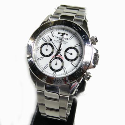 (あす楽) テクノス(TECHNOS)腕時計 クロノグラフ 10気圧防水 TGM615SW【送料無料】【半額】【スーパーセール】05P04Jun19