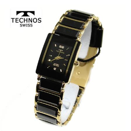 (あす楽)テクノス 腕時計 (TECHNOS) 3気圧防水 サファイアガラス T9796GB レディース【送料無料】【05P18Jun16】