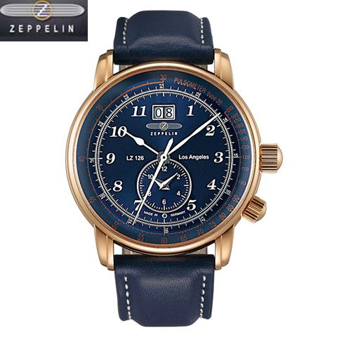 ツェッペリン  LZ126 Los Angeles  腕時計 LZ126 Los Angeles 8646-3 クオーツ GMT機能、タキメーター メンズ  86463  正規輸入品