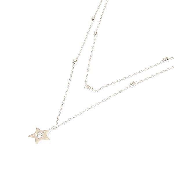 【送料無料】 WG ダイヤモンド ペンダントネックレス
