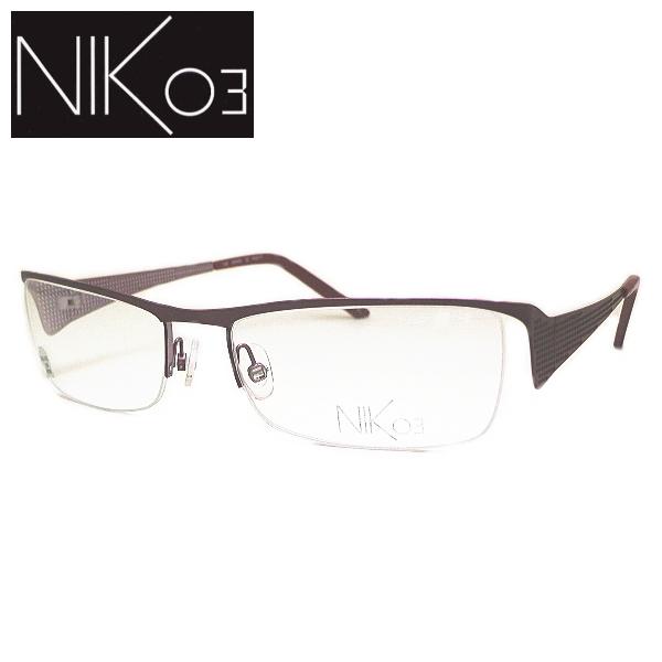 【送料無料】 ニックゼロスリー メガネフレーム NIK03 NK450 COL-32 SIZE-54