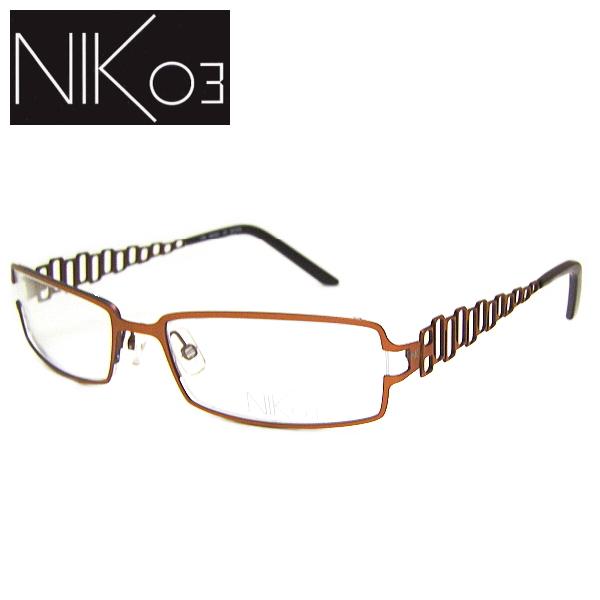 【送料無料】 ニックゼロスリー メガネフレーム NIK03 NK451 COL-33 SIZE-54