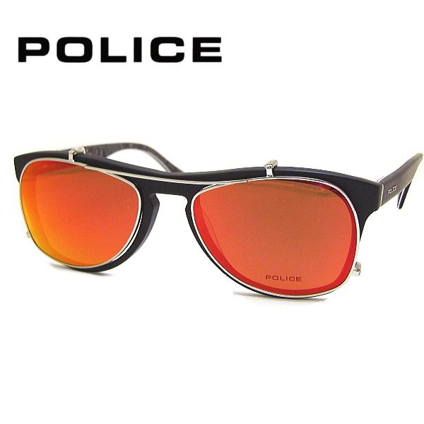 【送料無料】 ポリス メガネフレーム POLICE V1869M COL-703 SIZE-53 + 専用前掛けサングラス POLICE AG1869M-579R セット