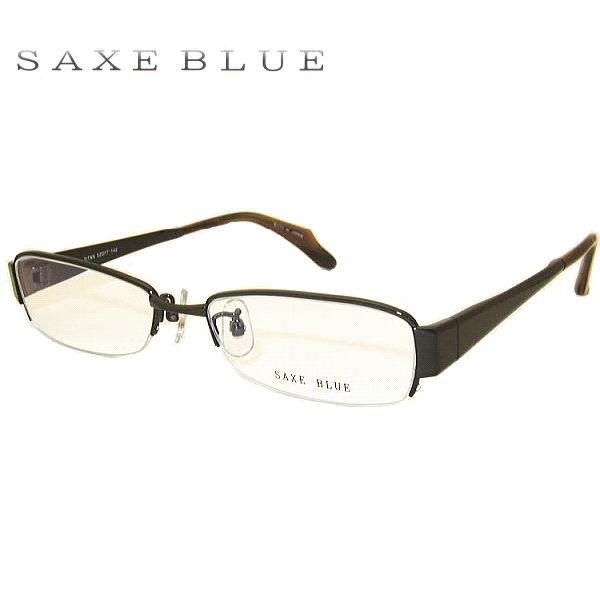 ザックスブルー メガネフレーム SAXE BLUE SB7028 COL-2 SIZE-52 メンズ ハーフリム