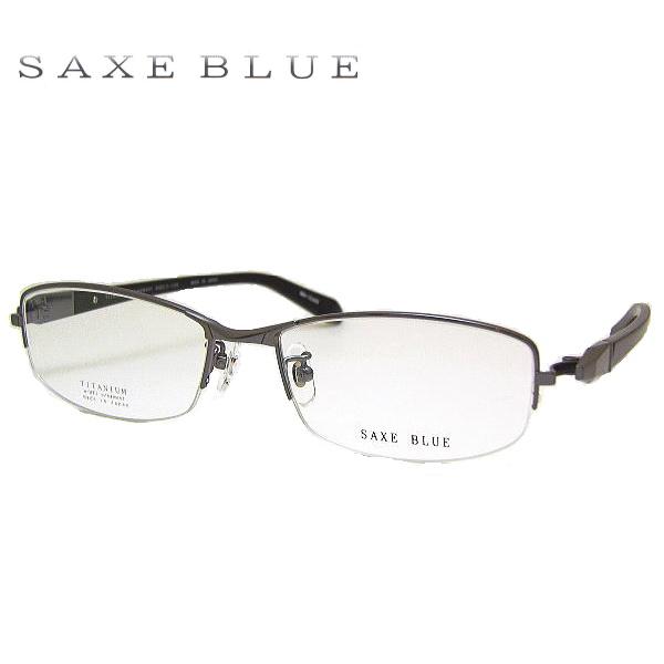 ザックスブルー メガネフレーム SAXE BLUE SB7065 COL-1 SIZE-54 メンズ ハーフリム