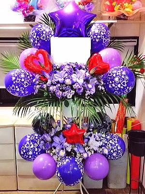 bst049 バルーンスタンド 紫