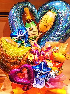 バルーンアレンジメント 風船 送料無料 誕生日 開店 周年 移転 祝い 御祝 ギフト ボリューム オープン 開業 開所 発表会 バースデー 演劇 公演 プレゼント バルーン キャラクター コンサート 楽屋 キャラ ライブ サプライズ シャンパン bar047