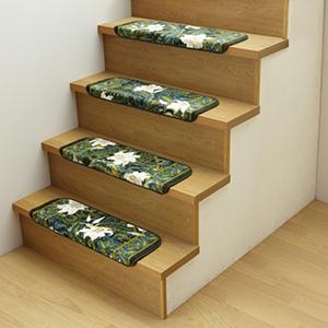 ●階段マット● 15段 すべり止め加工階段マット 日本製階段マット 安全な階段マット 抗菌防臭階段マット 豪華なゆりの階段マット ペットも安心階段マット 階段用マット 洗える階段マット  【05P03Dec16】