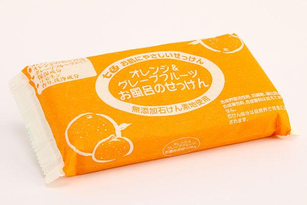 【お取り寄せ商品】【送料無料】まるは油脂化学七色石けん・オレンジ&グレープフルーツお風呂の石けん3P100g×3個パック×40