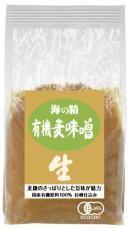 海の精 国産有機・麦味噌 1kg×10個【メーカー取寄品】【まとめ買い】【ムソー】