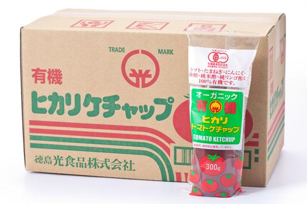 お得なケースまとめ買い商品です ヒカリ食品の有機JAS認定ケチャップです [宅送] 300g×20本 光食品有機トマトケチャップ 商店
