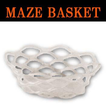 オーバルバスケットホワイト Lサイズ(1セット12個入)1個当り2650円