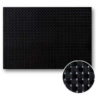 【ランチョンマット】【ビニール】 大判450mmx310mm PM-103 Lサイズ ブラック&ブラックチェック(1セット10枚入)