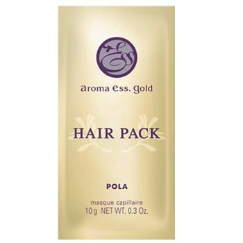 POLA ポーラ 使いきりヘアパック メール便 人気海外一番 アロマエッセ ヘアパック 日本製 30個セット ゴールドお試し 10mL パウチ