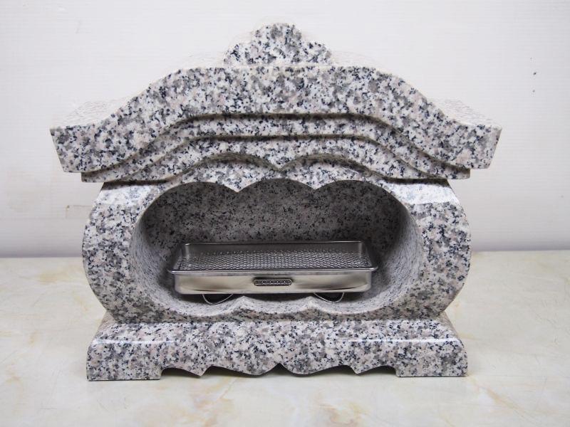 【送料無料】白御影石 屋根付 墓用 香炉 360x156x303 26.2kg